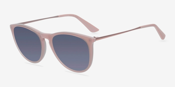 Interlude Light Pink Plastic Sunglass Frames from EyeBuyDirect, Angle View