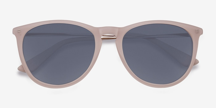 Interlude Light Pink Plastic Sunglass Frames from EyeBuyDirect, Closed View