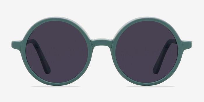 Alena Vert Acétate Soleil de Lunettes d'EyeBuyDirect, Vue de Face