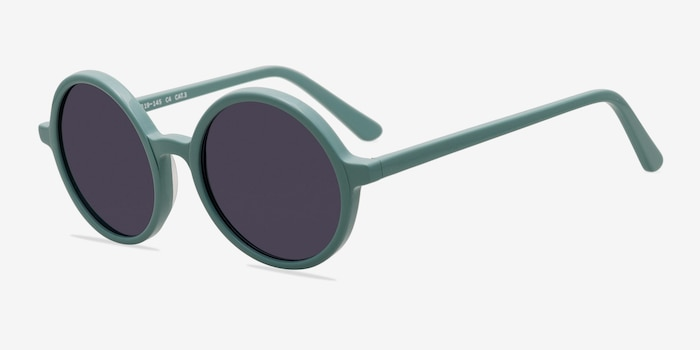 Alena Green Acetate Sunglass Frames from EyeBuyDirect, Angle View
