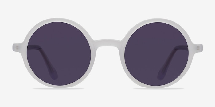Alena Matte Clear Acetate Sunglass Frames from EyeBuyDirect, Front View