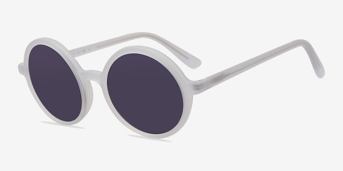Alena Matte Clear Acetate Sunglass Frames from EyeBuyDirect, Angle View