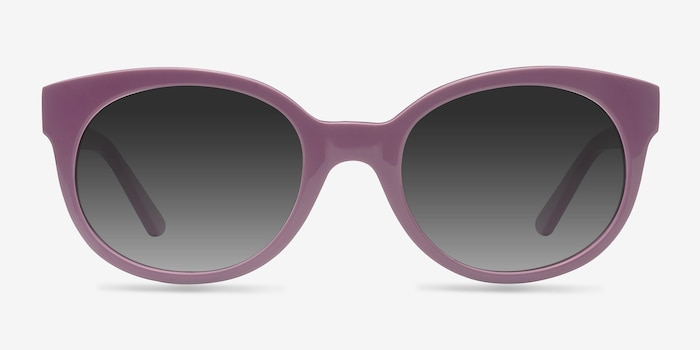 Matilda Purple Acetate Sunglass Frames from EyeBuyDirect, Front View