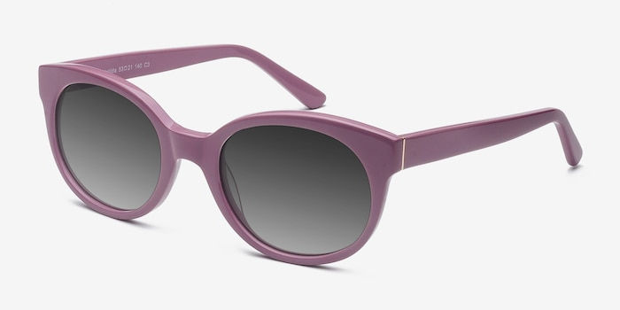Matilda Purple Acetate Sunglass Frames from EyeBuyDirect, Angle View