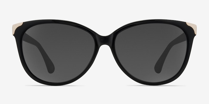 Lima Black Acetate Sunglass Frames from EyeBuyDirect, Front View