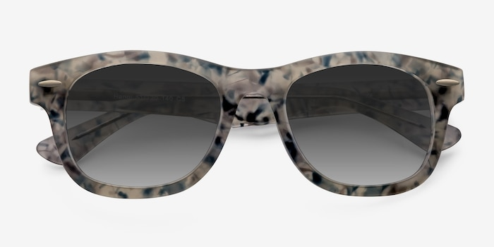 Hanoi Clear Floral Acetate Sunglass Frames from EyeBuyDirect, Closed View