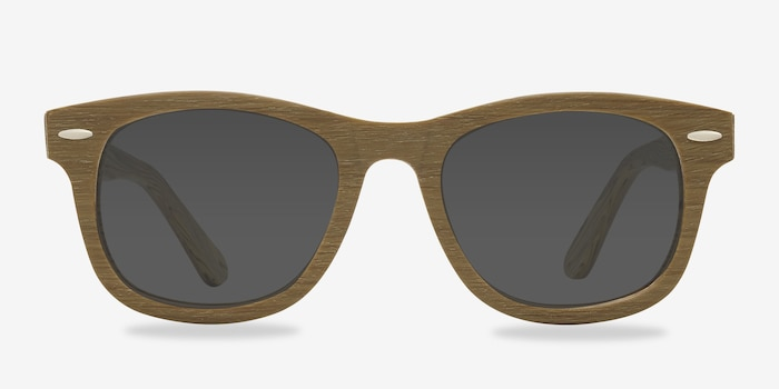 Hanoi Oak Acetate Sunglass Frames from EyeBuyDirect, Front View