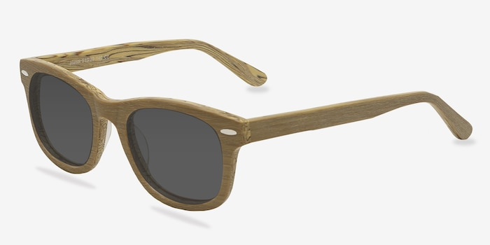 Hanoi Oak Acetate Sunglass Frames from EyeBuyDirect, Angle View