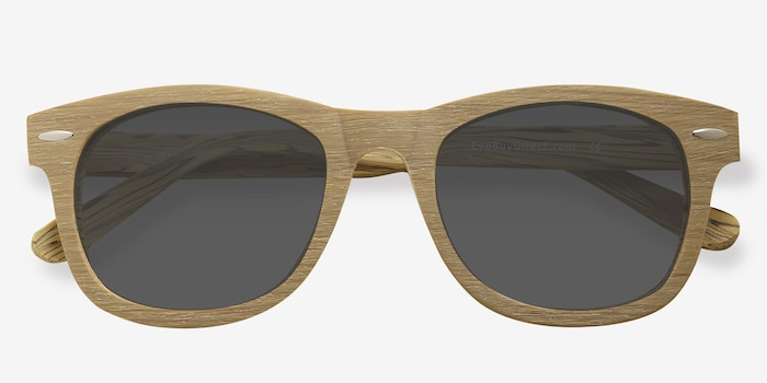 Hanoi Oak Acetate Sunglass Frames from EyeBuyDirect, Closed View