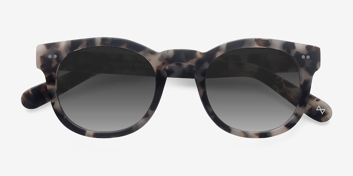 Horizon Marbled Tortoise Acetate Sunglass Frames from EyeBuyDirect, Closed View