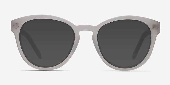 Augustine White Clear Acetate Sunglass Frames from EyeBuyDirect, Front View