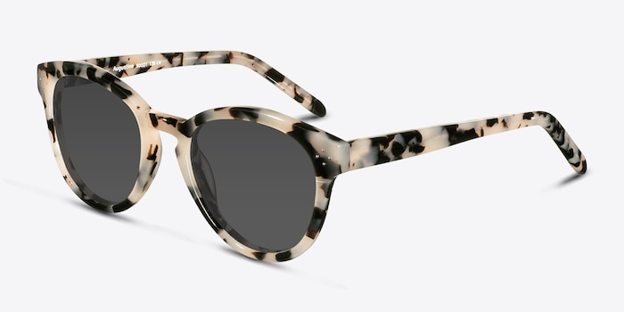 Augustine  Ivory Tortoise  Acetate Sunglass Frames from EyeBuyDirect, Angle View