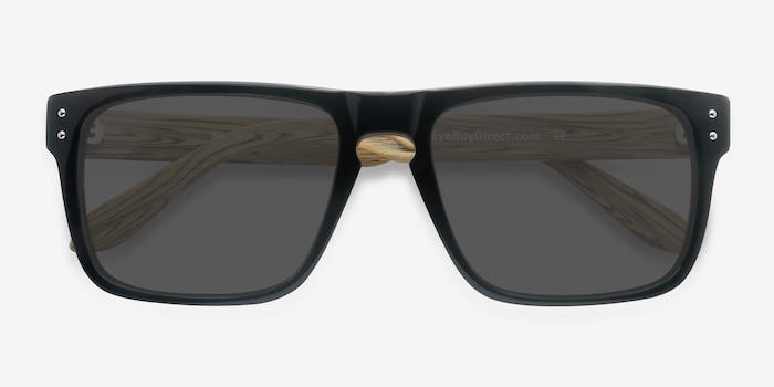 Sergi Black Yellow Acetate Sunglass Frames from EyeBuyDirect, Closed View