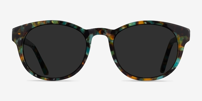 Coppola Green Tortoise Acetate Sunglass Frames from EyeBuyDirect, Front View