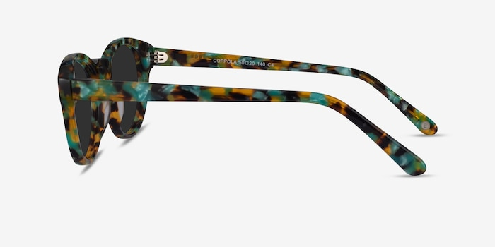 Coppola Green Tortoise Acetate Sunglass Frames from EyeBuyDirect, Side View