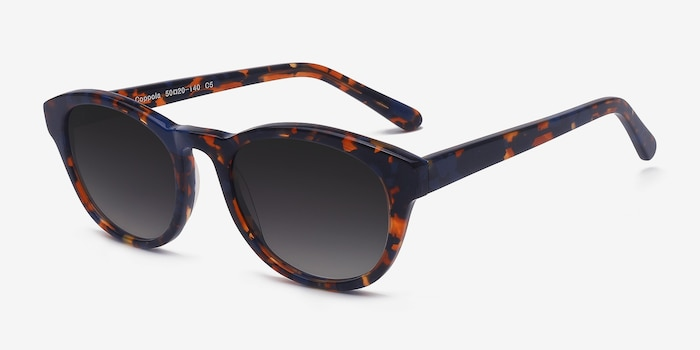 Coppola Blue Floral Acetate Sunglass Frames from EyeBuyDirect, Angle View
