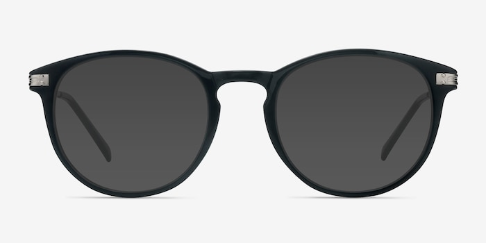 Monroe Black Metal Sunglass Frames from EyeBuyDirect, Front View