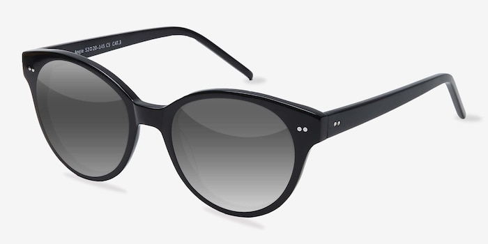 Angie  Black  Acetate Sunglass Frames from EyeBuyDirect, Angle View