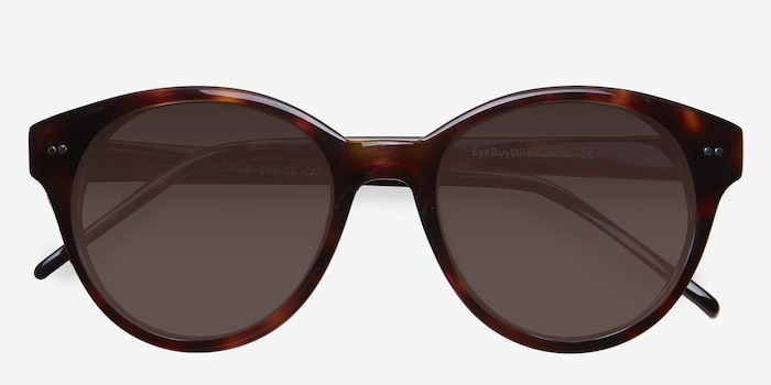 Angie  Tortoise  Acetate Sunglass Frames from EyeBuyDirect, Closed View