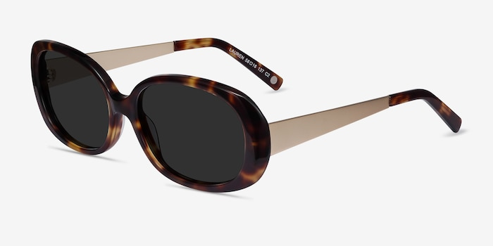Lauren Tortoise Acetate Sunglass Frames from EyeBuyDirect, Angle View