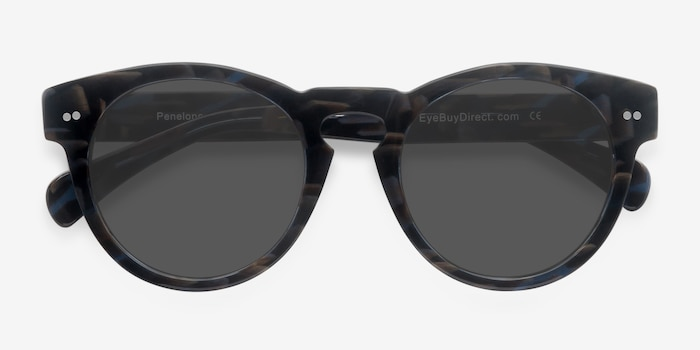 Penelope Floral Acetate Sunglass Frames from EyeBuyDirect, Closed View