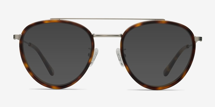 Brookline Tortoise Acetate Sunglass Frames from EyeBuyDirect, Front View