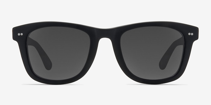 Nevada Matte Black Acetate Sunglass Frames from EyeBuyDirect, Front View