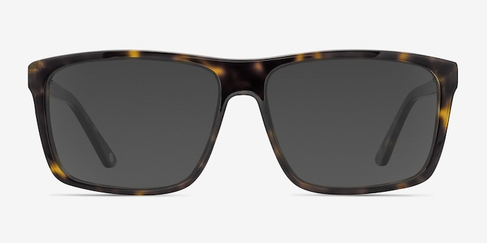 Perth Tortoise Acetate Sunglass Frames from EyeBuyDirect, Front View