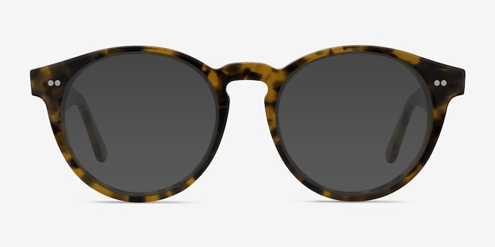 Havana Tortoise Acetate Sunglass Frames from EyeBuyDirect, Front View