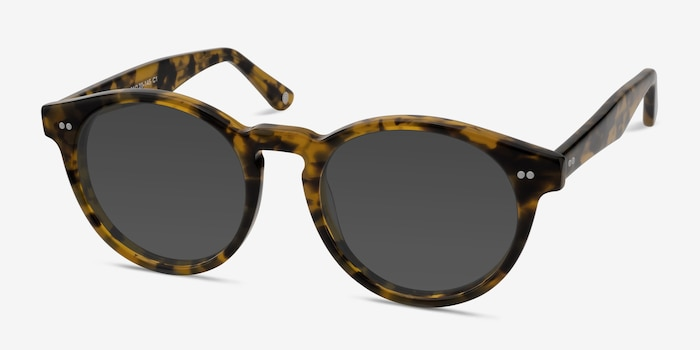 Havana Tortoise Acetate Sunglass Frames from EyeBuyDirect, Angle View