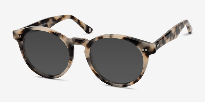 Havana Ivory Tortoise Acetate Sunglass Frames from EyeBuyDirect, Angle View