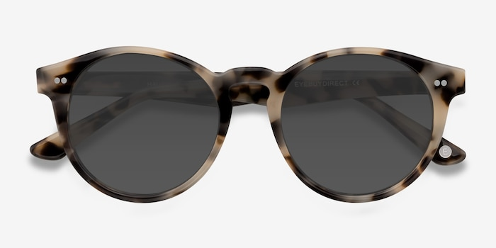 Havana Ivory Tortoise Acetate Sunglass Frames from EyeBuyDirect, Closed View
