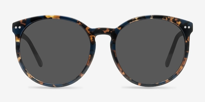 Vapor Blue Floral Acetate Sunglass Frames from EyeBuyDirect, Front View