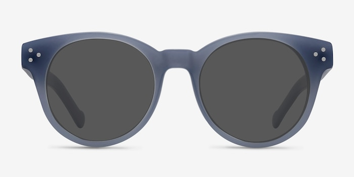 Minuit Blue Acetate Sunglass Frames from EyeBuyDirect, Front View