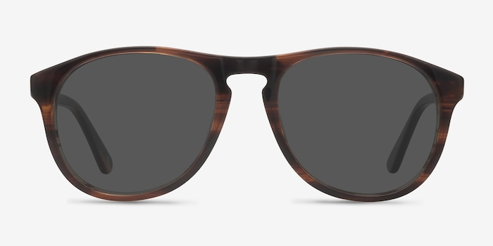 Silt Brown Acetate Sunglass Frames from EyeBuyDirect, Front View