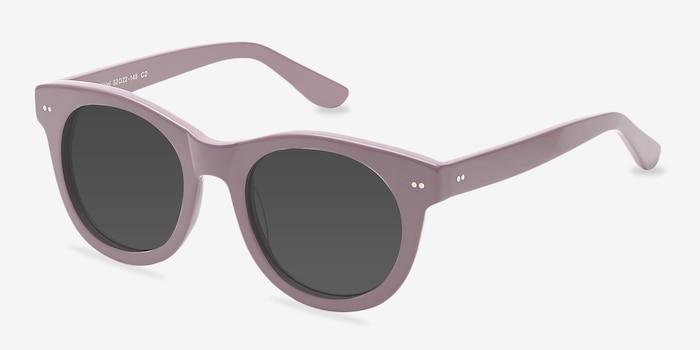 Bikini Pink Acetate Sunglass Frames from EyeBuyDirect, Angle View