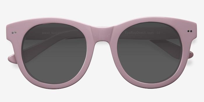 Bikini Pink Acetate Sunglass Frames from EyeBuyDirect, Closed View
