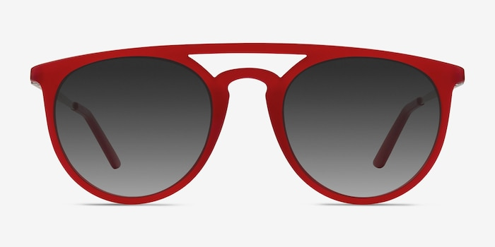 Benicia Scarlet Plastic Sunglass Frames from EyeBuyDirect, Front View