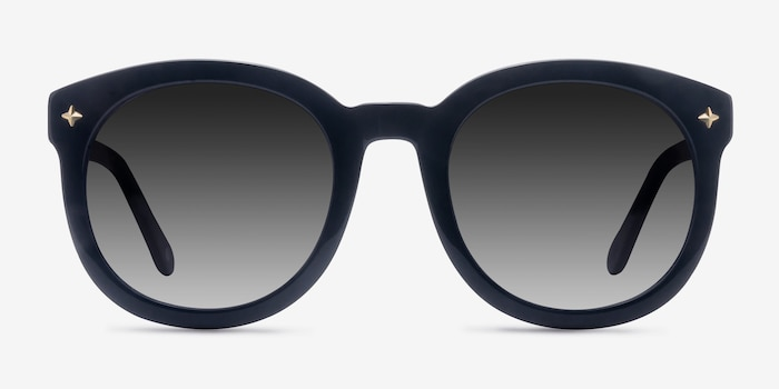 Paige Black Acetate Sunglass Frames from EyeBuyDirect, Front View