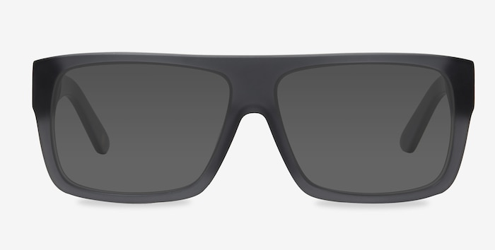 Fresh Matte Gray Acetate Sunglass Frames from EyeBuyDirect, Front View