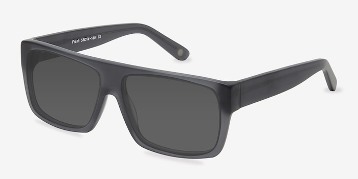 Fresh Matte Gray Acetate Sunglass Frames from EyeBuyDirect, Angle View