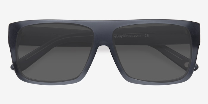 Fresh Matte Gray Acetate Sunglass Frames from EyeBuyDirect, Closed View