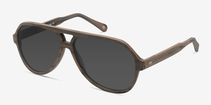 Americana Brown Acetate Sunglass Frames from EyeBuyDirect, Angle View