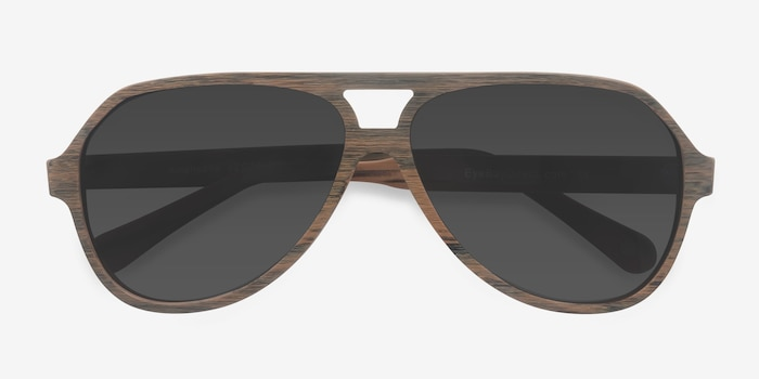 Americana Brown Acetate Sunglass Frames from EyeBuyDirect, Closed View