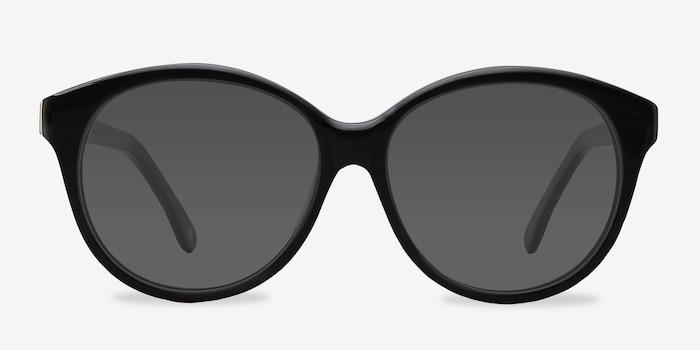 Stella Dark Gray Acétate Soleil de Lunette de vue d'EyeBuyDirect, Vue de Face
