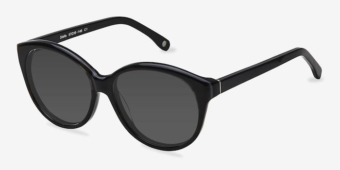 Stella Dark Gray Acetate Sunglass Frames from EyeBuyDirect, Angle View