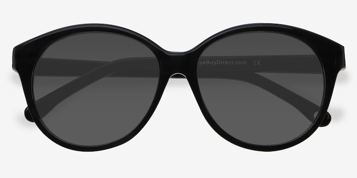 Stella Dark Gray Acetate Sunglass Frames from EyeBuyDirect, Closed View