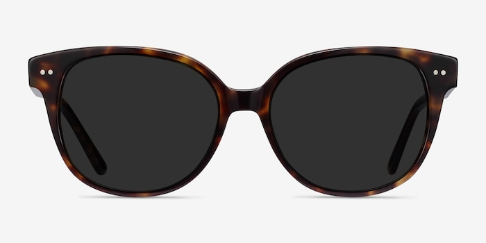 Lune Noire  Tortoise  Acetate Sunglass Frames from EyeBuyDirect, Front View