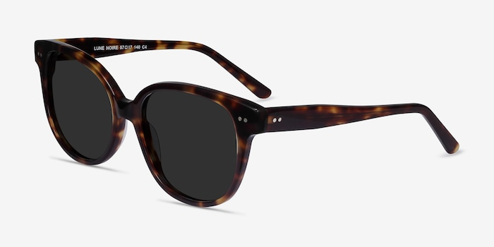 Lune Noire  Tortoise  Acetate Sunglass Frames from EyeBuyDirect, Angle View