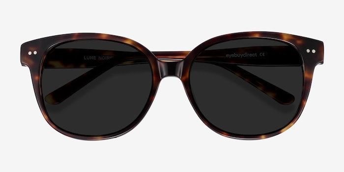 Lune Noire  Tortoise  Acetate Sunglass Frames from EyeBuyDirect, Closed View